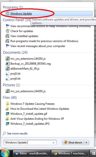 Windows 7 Update Causing Lock Ups - KB2952664 - Ophtek