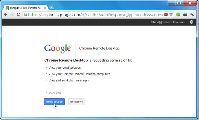 how to allow chrome access to firewall