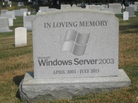 RIP Server 2003 (EOL)